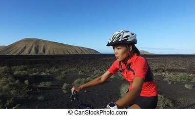 faire vélo, récréatif, cycle montagne, manière vivre saine, ...