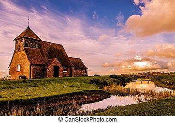 Fairfield Church - The church of St Thomas a Becket,...