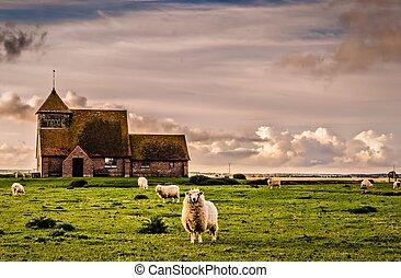 Fairfield cloud - The church of St Thomas a Becket,...
