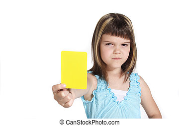 Fairplay - A young girl books someone. All isolated on white...