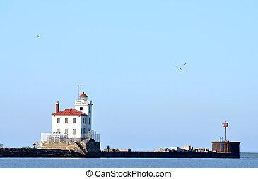 Fairport Harbor Lighthouse on Lake Erie