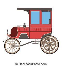 fairstyle, cavalo, treinador, silueta, vindima, cinderela, isolado, ilustração, carruagem, vetorial, desenho, retro, princesa