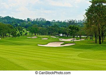 fairway in golf course
