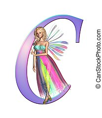 Fairy Alphabet - letter C - Upper case letter A from a fairy...