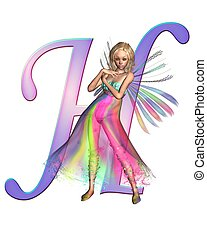 Fairy Alphabet - letter H - Upper case letter H from a fairy...