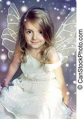 Fairy angel girl.