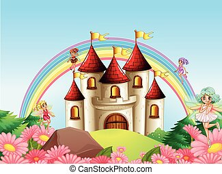 Fairy at the medieval castle