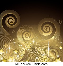 Fairy black and gold background