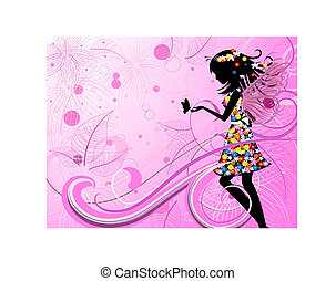 fairy, blomst, sommerfugle