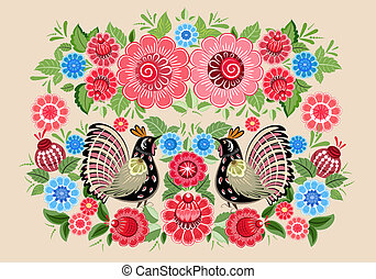 fairy, blomster, fugle