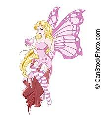 fairy butterfly love
