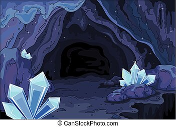 Fairy cave - Illustration of a fairy cave