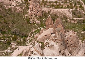 Fairy chimneys and stone houses of Cappadocia