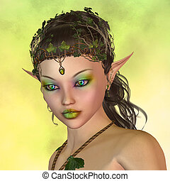 fairy - portrait of a fairy