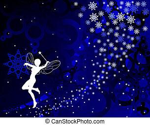 Fairy dust - Abstract editable vector illustration of a ...