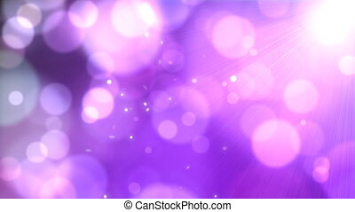 Fairy Dust - Drifting purple defocused lights. Clip...