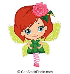 Fairy girl in elegant  dress
