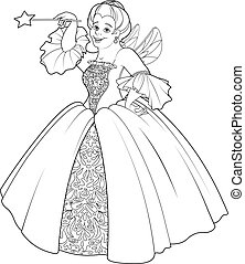 Fairy Godmother Making a Wish - Fairy godmother making a...