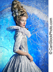 fairy Ice Queen - Fairy Ice Queen in elegant silver and...