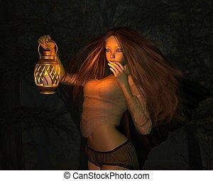 Fairy in a Dark Forest