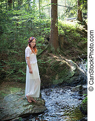 fairy in a forest