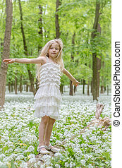 fairy in green forest