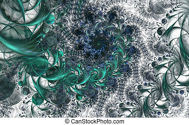 Fairy Infinite Abstract floral pattern. Bright colors and sparkling texture.