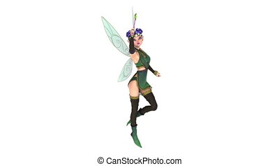 fairy isolated on white