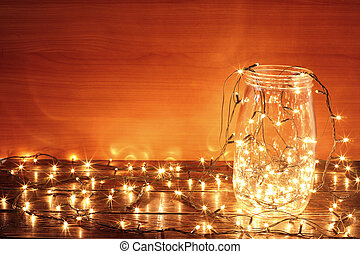 Fairy Lights in Glass Jar