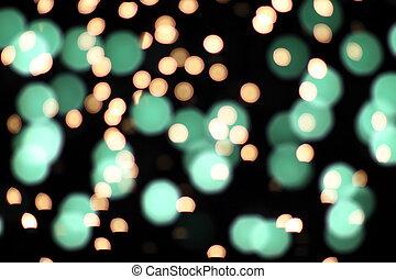 Fairy Lights on Black Background