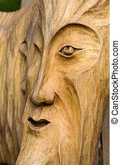 fairy-like, legno, figure, da, primaeval, slawic, tales