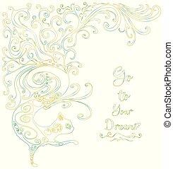 Fairy, magic, cartoon cat, isolated. Vector illustration cute, fantasy, decorative animal