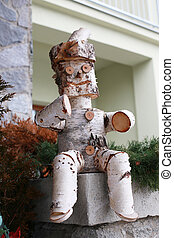 Fairy man made from birch