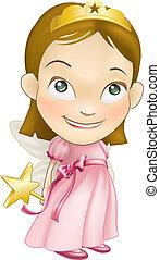fairy princess white girl