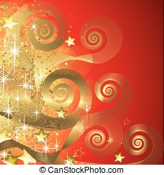 Fairy red and gold background