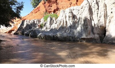 Fairy Stream. Mui Ne, Vietnam - Fairy Stream, one of the...
