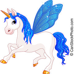 Indigo Cute winged horse of Fairy Tail. (Rainbow colored horses series)