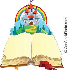 Fairy tale book theme image 1 - vector illustration.