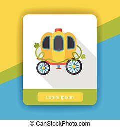 fairy tale carriage flat icon