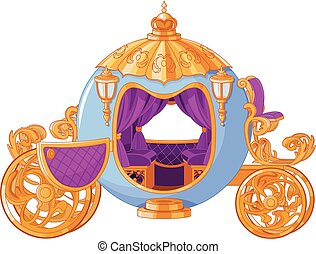 Fairy Tale Carriage - Illustration of Cinderella fairy tale...