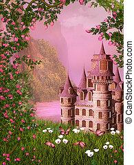 fairy tale castle - dreamy fairy tale background
