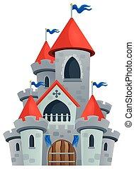 Fairy tale castle theme image 1 - eps10 vector illustration.