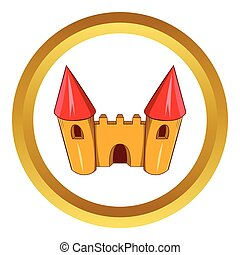 Fairy tale castle vector icon