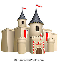 Fairy-tale castle - vector illustration