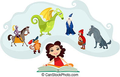 fairy tale - vector illustration of a fairy tale