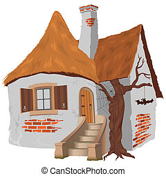 Fairy Tale Cottage - illustration, vector