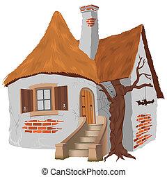 Fairy Tale Cottage - illustration, vector