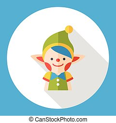 fairy tale elves flat icon