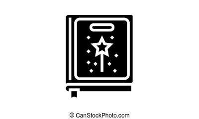 fairy tale genre animated glyph icon. fairy tale genre sign. isolated on white background