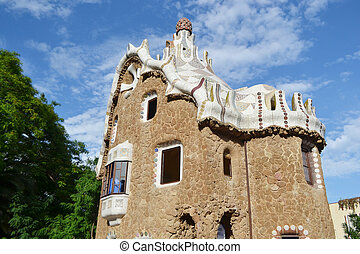 Fairy tale house in Park Guell